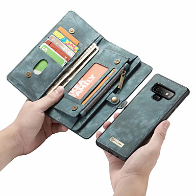 cheap Galaxy Note Series Cases / Covers-CaseMe Case For Samsung Galaxy Note 9 / Note 8 Wallet / Card Holder / Flip Full Body Cases Solid Colored Hard PU Leather for Note 9 / Note 8