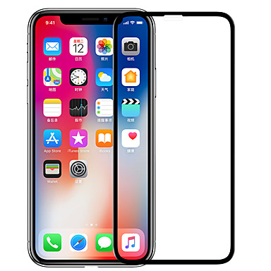 voordelige iPhone screenprotectors -nillkin screen protector voor apple iphone xs gehard glas 1 stuk full body screen protector hoge definitie (hd) / 9h hardheid / explosiebestendig