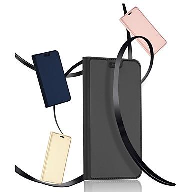 غطاء من أجل Samsung Galaxy Note 9 حامل البطاقات / مع حامل / قلب غطاء كامل للجسم لون سادة قاسي جلد PU