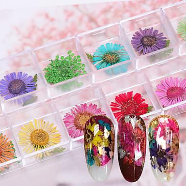 12 pcs Multi Function / Najbolja kvaliteta Eko-friendly materijal naljepnice Za Cvijet nail art Manikura Pedikura Dnevno / Festival Romantični / Moda