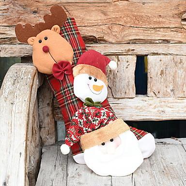 Stockings Predbožićna Tekstil Kvadrat Noviteti Božićni ukras
