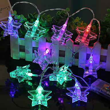 1.2m Žice sa svjetlima 10 LED diode Više boja New Design / Ukrasno / Cool AA baterije su pogonjene