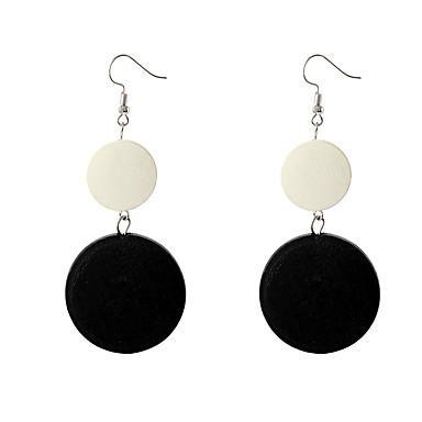 Žene Viseće naušnice Geometrijski Jednostavan Vintage Europska drven Drvo Naušnice Jewelry Crn Za Party Kauzalni 1 par
