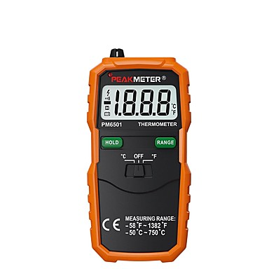 službeni pikmetar pm6501 LCD zaslon digitalni termometar s k termopar termometar s podacima držite