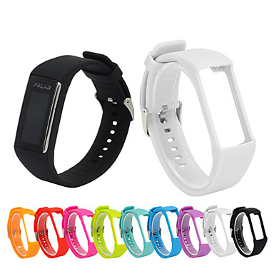 billige Watch band for Polar-Urrem for POLAR A360 / A370 Polar Sportsrem Silikone Håndledsrem