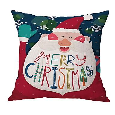 غطاء الوسادة عيد الميلاد المجيد نسيج القطن مربع حزب زينة عيد الميلاد
