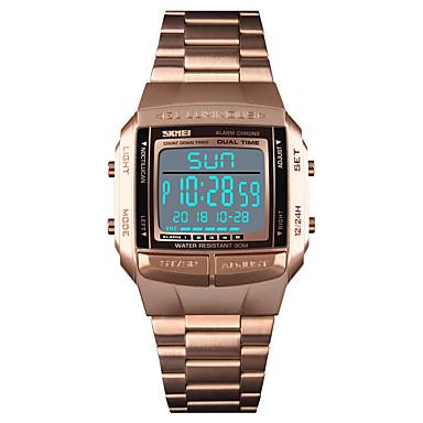 76191b80c09 SKMEI Homens Relógio Esportivo Relógio de Pulso Relogio digital Digital Aço  Inoxidável Preta   Prata   Dourada 30 m Impermeável Alarme Calendário  Digital ...