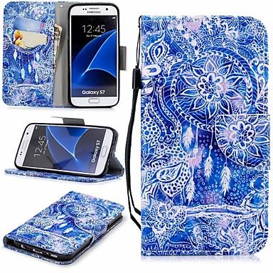Case Kompatibilitás Samsung Galaxy S7 Pénztárca / Kártyatartó / Állvánnyal Héjtok Álomfogó Kemény PU bőr