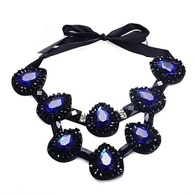 نسائي عقد كلاسيكي سيدات رومانسي مكتنزة قماش سبيكة أسود 10*7.5 cm قلادة مجوهرات 1PC من أجل حفل / مساء