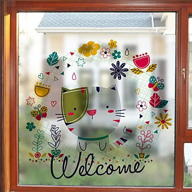 فيلم نافذة وملصقات زخرفة معاصر شخصية PVC ملصق النافذة / جميل