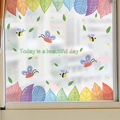 فيلم نافذة وملصقات زخرفة العادي شخصية PVC جميل