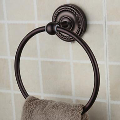قضيب المنشفة تصميم جديد / كوول الحديث نحاس 1PC خاتم منشفة مثبت على الحائط