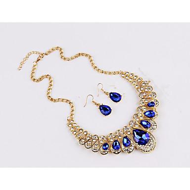 Žene Sapphire Citrin Sintetički Sapphire Svadbeni nakit Setovi Klasičan Ispustiti dame Moda Naušnice Jewelry Duga / Crvena / Plava Za Party Dnevno 1set