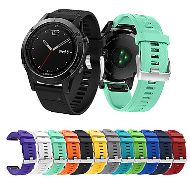 ราคาถูก อุปกรณ์เสริมโทรศัพท์มือถือ-สายนาฬิกา สำหรับ Approach S60 / Fenix 5 / Fenix 5 Plus Garmin สายยางสำหรับเส้นกีฬา ยางทำจากซิลิคอน สายห้อยข้อมือ