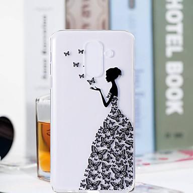 Θήκη Za Samsung Galaxy A6 (2018) / A6+ (2018) / A3 (2017) Prozirno / Uzorak Stražnja maska Rukav leptir / Seksi dama Mekano TPU