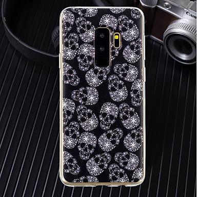 voordelige Galaxy A-serie hoesjes / covers-hoesje Voor Samsung Galaxy A5(2018) / A6 (2018) / A6+ (2018) Ultradun / Transparant / Patroon Achterkant Doodskoppen Zacht TPU