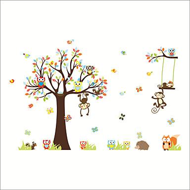 Dekorativne zidne naljepnice - Zidne naljepnice / Naljepnice za zidne zidove Životinje / Cvjetni / Botanički Dječja soba