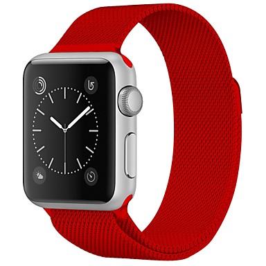 olcso Karóra tartozékok-Rozsdamentes acél Nézd Band Szíj mert Apple Watch Series 4/3/2/1 Piros / Barna / Zöld 23cm / 9 inch 2.1cm / 0.83 Hüvelyk