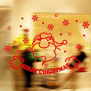 فيلم نافذة وملصقات زخرفة عيد الميلاد عطلة PVC طارد المياه / كوول