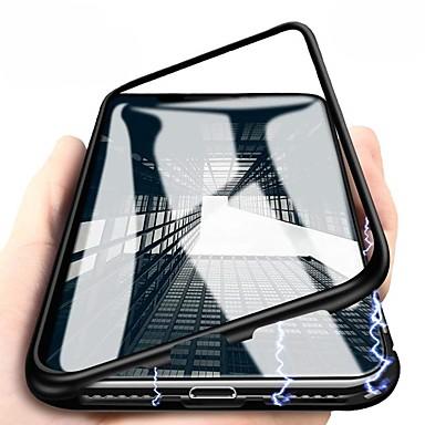 voordelige iPhone X hoesjes-hoesje Voor Apple iPhone X / iPhone 8 Plus / iPhone 8 Magnetisch Volledig hoesje Effen Hard Metaal