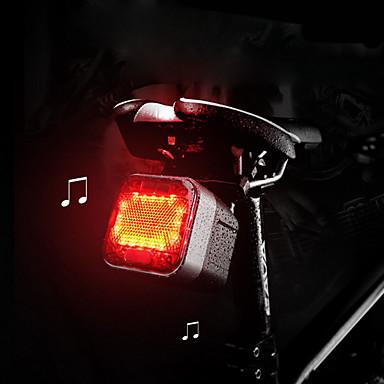 olcso Kerékpár világítás-LED Kerékpár világítás Kerékpár hátsó lámpa biztonsági világítás Vezeték nélküli Bluetooth hangszóró Hegyi biciklizés Kerékpár Kerékpározás Vízálló Kreatív Új design Gyors kioldású 100 lm Piros