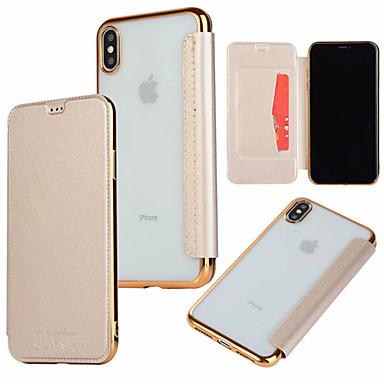 Θήκη Za Apple iPhone XS / iPhone XR / iPhone XS Max Utor za kartice / Pozlata / Zaokret Korice Jednobojni Tvrdo PU koža