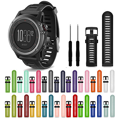 cheap Smartwatch Accessories-Watch Band for Fenix 3 HR / Fenix 3 Sapphire / Fenix 3 Garmin Sport Band Silicone Wrist Strap