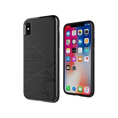 Недорогие Кейсы для iPhone-Nillkin Кейс для Назначение Apple iPhone X / iPhone XS Защита от удара / Матовое / С узором Кейс на заднюю панель Геометрический рисунок Мягкий ТПУ для iPhone XS / iPhone X