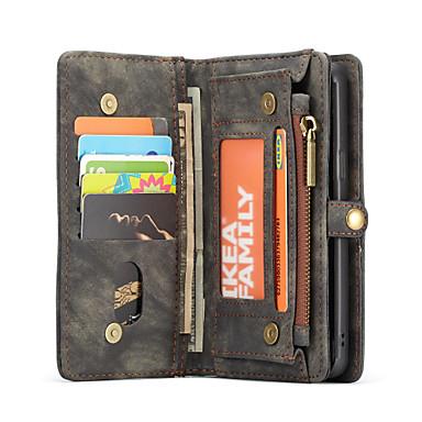 Недорогие Чехлы и кейсы для Galaxy S-CaseMe Кейс для Назначение SSamsung Galaxy S9 Plus / S9 Кошелек / Бумажник для карт / Флип Чехол Однотонный Твердый ТПУ для S9 / S9 Plus / S8 Plus