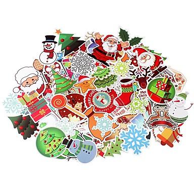 olcso Dekorációk-100 db / csomag klasszikus divat karácsonyi stílusú graffiti matricák motorkocsihoz& bőrönd hűvös laptop matricák gördeszka matrica