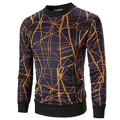 Muškarci Sport Aktivan Color block Dugih rukava Regularna Pullover Džemper od džempera, Okrugli izrez Obala / Bijela M / L / XL