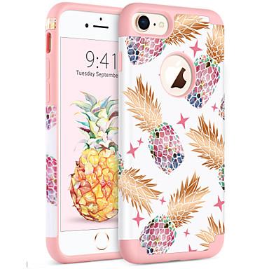 voordelige iPhone-hoesjes-BENTOBEN hoesje Voor Apple iPhone 8 / iPhone 7 Schokbestendig / IMD / Patroon Achterkant Planten / Boom / Fruit Zacht PC / silica Gel voor iPhone 8 / iPhone 7
