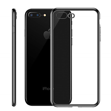 voordelige iPhone-hoesjes-hoesje Voor Apple iPhone XS / iPhone XR / iPhone XS Max Beplating / Ultradun / Doorzichtig Achterkant Effen Zacht TPU