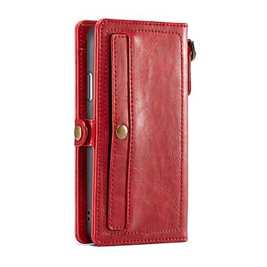 CaseMe Θήκη Za Apple iPhone X Novčanik / Utor za kartice Korice Jednobojni Tvrdo PU koža za iPhone X / iPhone 8 Plus / iPhone 8