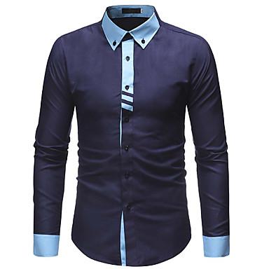 Majica Muškarci Dnevno / Rad Pamuk Color block Slim Obala / Dugih rukava