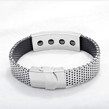[\u20ac6.49] Bracelet Homme Tendance Créatif Mode Bracelet Bijoux Argent Forme  de Cercle pour Cadeau Quotidien