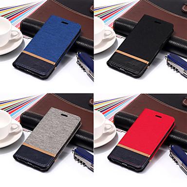 غطاء من أجل Sony Sony Xperia Z2 / Sony Xperia Z3 / Sony Xperia Z4 محفظة / حامل البطاقات / مع حامل غطاء كامل للجسم لون سادة قاسي جلد PU