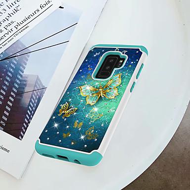 Θήκη Za Samsung Galaxy S9 Plus / S9 Otporno na trešnju / Štras / Uzorak Stražnja maska Rukav leptir Tvrdo PC za S9 / S9 Plus / S8 Plus