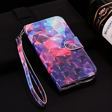 غطاء من أجل Samsung Galaxy Note 9 محفظة / حامل البطاقات / مع حامل غطاء كامل للجسم نموذج هندسي قاسي جلد PU