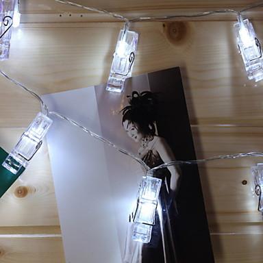2.5m Žice sa svjetlima 20 LED diode Toplo bijelo New Design / Ukrasno / Cool AA baterije su pogonjene 1set