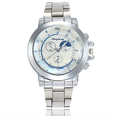 رجالي ساعة فستان ساعة المعصم كوارتز فضة ساعة كاجوال طرد كبير مماثل كلاسيكي كاجوال موضة - أبيض أزرق سنة واحدة عمر البطارية