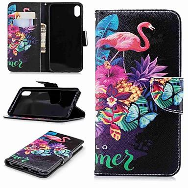 Θήκη Za Apple iPhone XS / iPhone XR / iPhone XS Max Novčanik / Utor za kartice / sa stalkom Korice Flamingo / Životinja Tvrdo PU koža