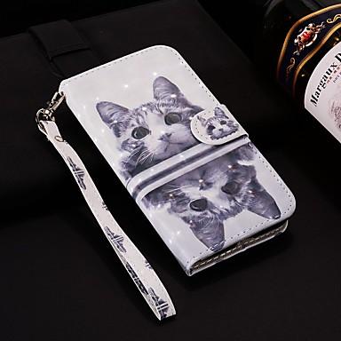 رخيصةأون Huawei أغطية / كفرات-غطاء من أجل Huawei Huawei P20 / Huawei P20 Pro / Huawei P20 lite محفظة / حامل البطاقات / مع حامل غطاء كامل للجسم قطة قاسي جلد PU / P10 Lite