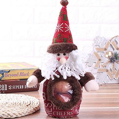 Poklon vrećice / Božićni ukrasi Odmor Pamučne tkanine Cube Noviteti Božićni ukras
