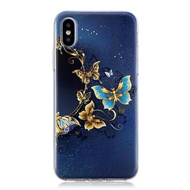 Θήκη Za Apple iPhone X / iPhone 8 Plus / iPhone 8 Uzorak Stražnja maska Rukav leptir Mekano TPU