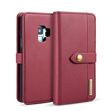 levne Galaxy S pouzdra / obaly-DG.MING Carcasă Pro Samsung Galaxy S9 / S8 Peněženka / Pouzdro na karty / se stojánkem Celý kryt Jednobarevné Pevné PU kůže pro S9 / S9 Plus / S8 Plus