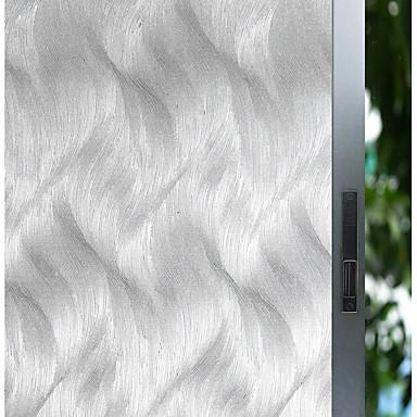 فيلم نافذة وملصقات زخرفة زهري / هندسي هندسي زجاج / PVC ملصق النافذة / بدون لمعة