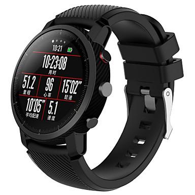 Недорогие Ремешки для часов Huawei-Ремешок для часов для Huami Amazfit A1602 Huawei Спортивный ремешок силиконовый Повязка на запястье