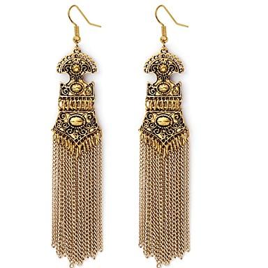 Žene Viseće naušnice dame Stilski Klasik Naušnice Jewelry Zlato / Pink Za Dnevno 1 par