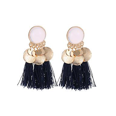 cheap Earrings-Women's Drop Earrings Tassel Stylish Creative Spike Ladies Tassel Boho Earrings Jewelry Gold / White / Dark Green / Dark Navy For Carnival Masquerade 1 Pair